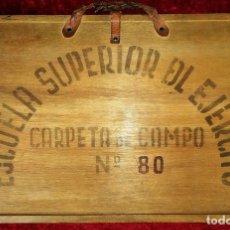 Militaria: MAPAS MILITARES. CARPETA DE LA ESCUELA SUPERIOR DEL EJÉRCITO. ESPAÑA. CIRCA 1934. Lote 171685349