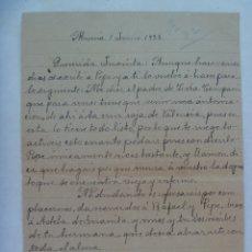 Militaria: GUERRA CIVIL : CARTA INDICANDO QUE ACUDAN A CRUZ ROJA DE VALENCIA PARA AVACUACION. ALMERIA, 1938. Lote 173202815