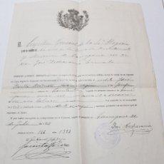 Militaria: LICENCIA DEFINITIVA A SOLDADO 1919. Lote 173625935