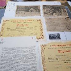 Militaria: DIPLOMAS,RECORTES PRENSA Y FOTO SARGENTO LEGION CONDOR. Lote 173626669