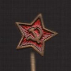 Militaria: ALFILER ESTRELLA HOZ Y MARTILLO, REPUBLICANA, VER FOTO. Lote 173667100