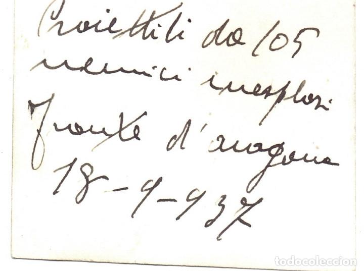 Militaria: SOLDADO CTV ITALIANO SECTOR ZUERA (ZARAGOZA) PROYECTIL 105 FRENTE ARAGON 1937 GUERRA CIVIL - Foto 2 - 173833902