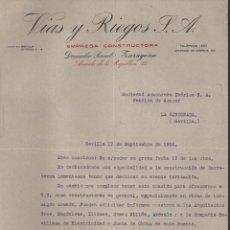 Militaria: VIAS Y RIEGOS S.A., AZUCARERA IBERICA DEL GUADALQUIVIR, REPUBLICA, VER FOTO, VER FOTO. Lote 173957213