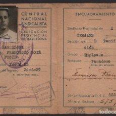 Militaria: BARCELONA,- CARNET CON FUNDA, C.N.S. VER FOTOS. Lote 174103555