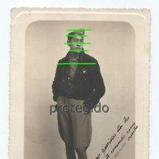 Militaria: LUIS. 14-2-1937. DEDICADA. FOTÓGRAFO DESCONOCIDO.. Lote 174303357