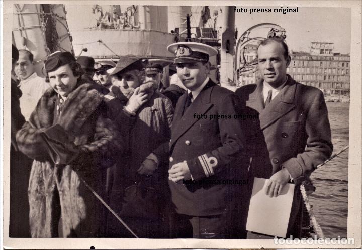 DESTIERRO RICARDO ZAMORA MARSELLA FOTO RARISIMA AGENCIA KEYSTONE GUERRA CIVIL (Militar - Guerra Civil Española)