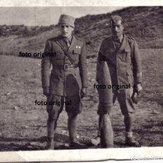 Militaria: OFICIALES ITALIANOS CTV FRENTE ARAGON BATALLA QUINTO(ZARAGOZA) MUNICION 105 GUERRA CIVIL. Lote 174588365