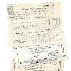 Militaria: ALCOY (ALICANTE) 4 RECIBOS COMPAÑÍA TELEFÓNICA NACIONAL DE ESPAÑA FECHADOS AÑOS 1937 Y 1938. Lote 174983233
