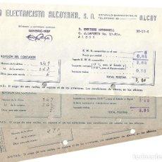 Militaria: ALCOY (ALICANTE) TRES RECIBOS LA ELECTRICA ALCOYANA S.A. FECHADOS AÑOS 1937 Y 1938. Lote 174983907