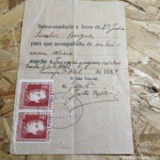 Militaria: SALVO-CONDUCTO. Lote 175141939