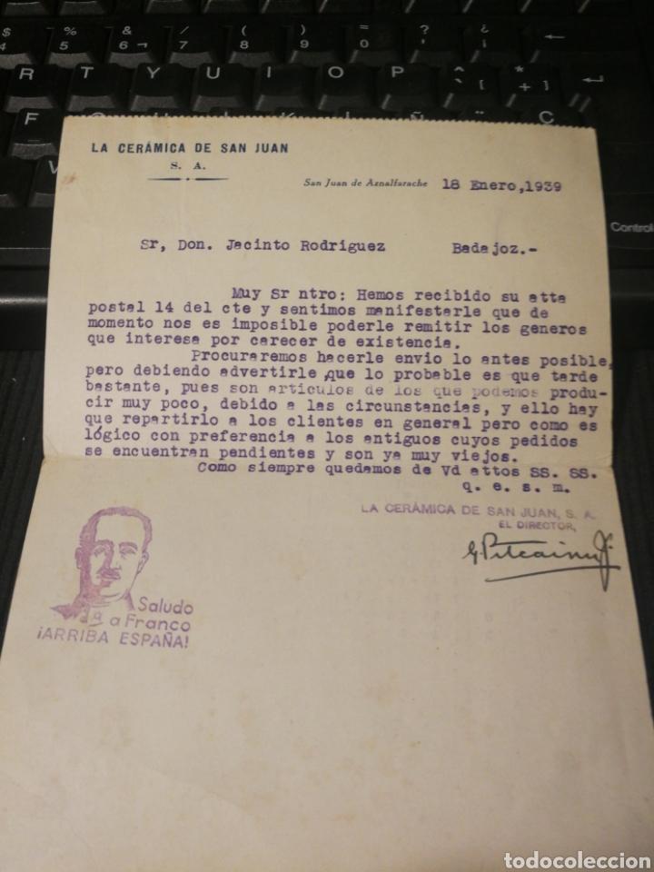 Militaria: La ceramica de san juan. San juan de aznalfarache. Sevilla 1939. - Foto 2 - 175150770