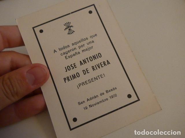 Militaria: Lote de documentos, fotos, postales, recordatorios de falange, Jose Antonio primo de rivera. - Foto 3 - 175159220