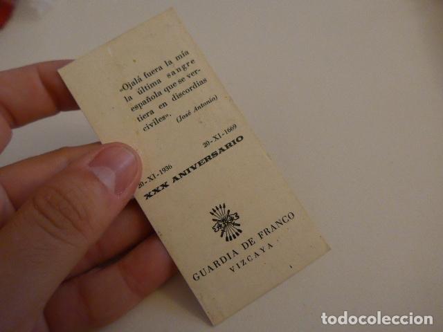 Militaria: Lote de documentos, fotos, postales, recordatorios de falange, Jose Antonio primo de rivera. - Foto 5 - 175159220