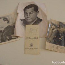 Militaria: LOTE DE DOCUMENTOS, FOTOS, POSTALES, RECORDATORIOS DE FALANGE, JOSE ANTONIO PRIMO DE RIVERA.. Lote 175159220