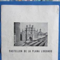 Militaria: GUERRA CIVIL. RECORTE REVISTA VERTICE Nº 11 JUNIO 1938. CASTELLON DE LA PLANA LIBERADO.. Lote 175432808