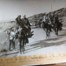 Militaria: GUERRA CIVIL ESPAÑOLA: PASADO MALAGA, ENTRE MALAGA Y MOTRIL SOLDADOS MOROS EN LA CARRETERA. 8/2/1937. Lote 175965688