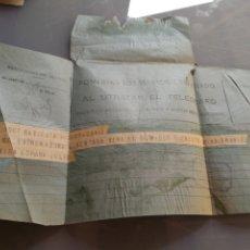 Militaria: TELEGRAMA FELICITACION DE LA TOMA DE BADAJOZ 1936. GUERRA CIVIL.. Lote 176408452