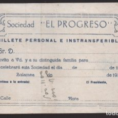 Militaria: ZALAMEA.- SOCIEDAD--EL PROGRESO-- VER FOTO. Lote 176475880