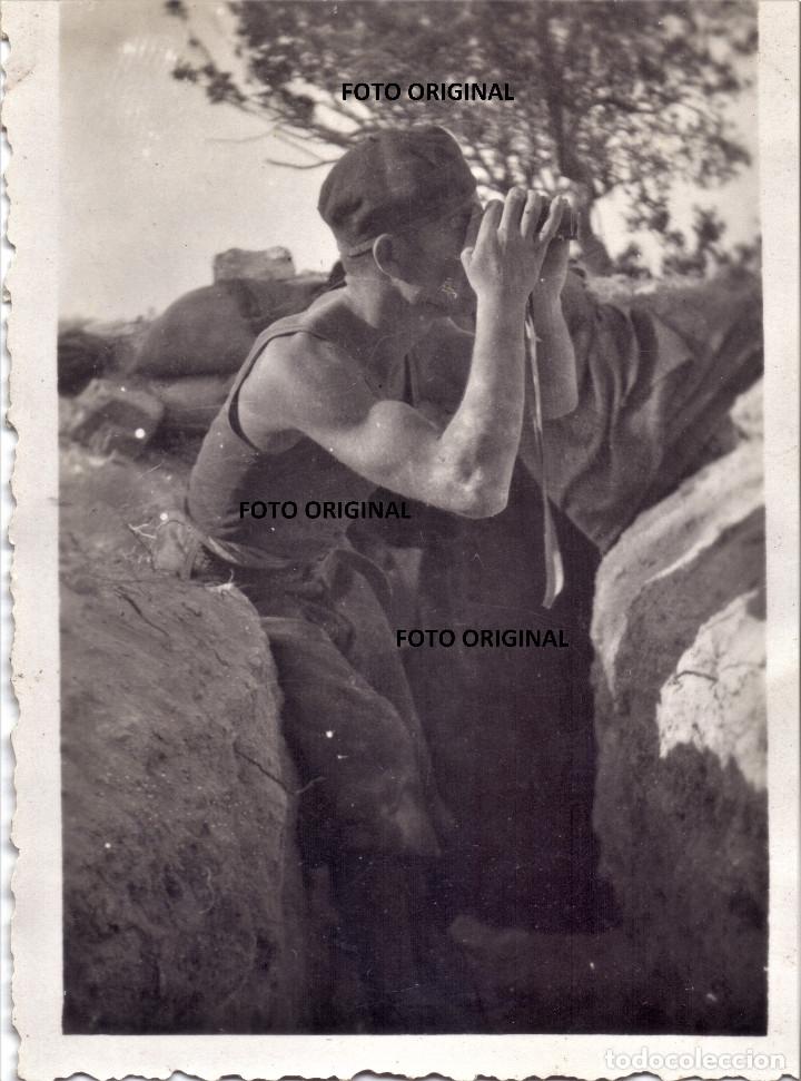 SOLDADO ITALIANO CTV BATALLA DEL EBRO TRINCHERAS 1938 GUERRA CIVIL (Militar - Guerra Civil Española)