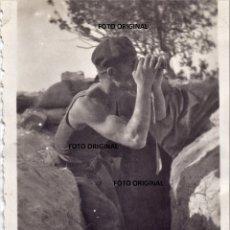 Militaria: SOLDADO ITALIANO CTV BATALLA DEL EBRO TRINCHERAS 1938 GUERRA CIVIL. Lote 176547288