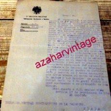 Militaria: SEVILLA, 1940, CARTA DESCRIENDO SERVICIOS DURANTE LA GUERRA CIVIL. Lote 177253665