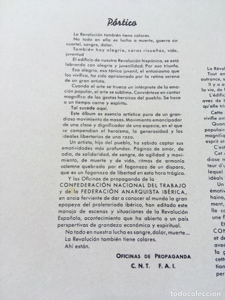 Militaria: ESTAMPAS DE LA REVOLUCIÓN ESPAÑOLA . 19 DE JULIO DE 1936. C.N.T.- F.A.I. guerra civil - Foto 14 - 177660362