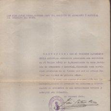 Militaria: ZARAGOZA, EJERCITO DEL NORTE. SERVICIO ARMAMENTO Y MATERIAL. AÑO 1938. VER FOTO. Lote 178663157