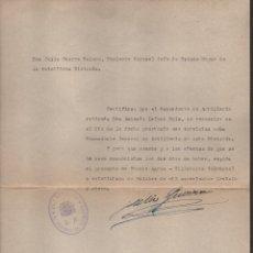 Militaria: FUENTE AGRIA -CORDOBA-. E.M. 23 DIVISION , CUERPO DE EJERCITO, AÑO 1937. VER FOTO. Lote 178663416