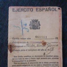 Militaria: CARTILLA EJÉRCITO ESPAÑOL. 1936. Lote 179001341