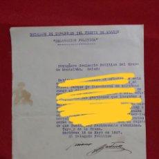 Militaria: CARTA AL DELEGADO POLITICO DEL BATALLON DE ZAPADORES DEL FRENTE DE ARAGON. MONTALBÁN. SARIÑENA. 1937. Lote 179041705