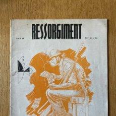 Militaria: REVISTA RESSORGIMENT (EN CASTELLANO Y CATALÁN) 1938. GUERRA CIVIL.. Lote 179067965