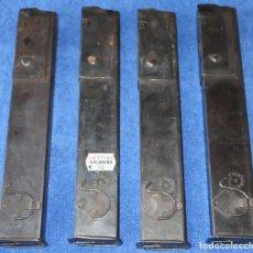 Militaria: LOTE DE 4 CARGADORES SCHAMEISSER CAL 9 - MP 28 - INDUSTRIA DE GUERRA DE CATALUÑA (VACÍOS). Lote 179136075