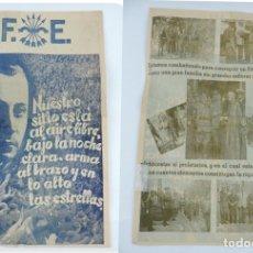 Militaria: CARTEL DE GUERRA CIVIL. FALANGE ESPAÑOLA. PLENA GUERRA CIVIL. JOSE ANTONIO PRIMO DE RIREVA. POR EL R. Lote 180079152