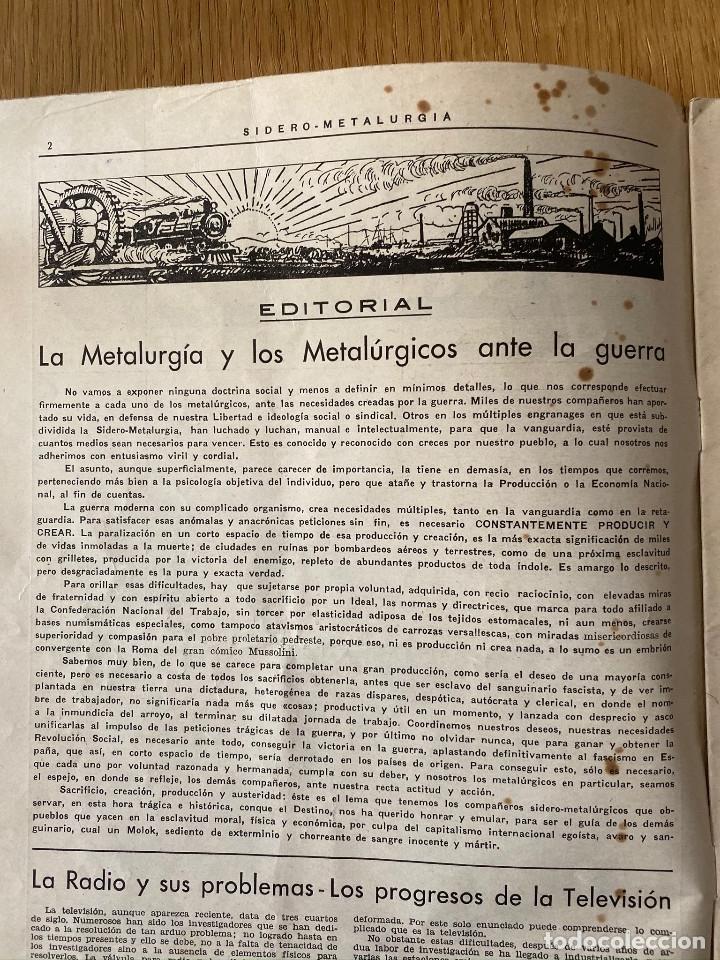 Militaria: Revista Guerra civil. Siderometalurgia nº2, Barcelona 1938. CNT AIT - Foto 2 - 180179372