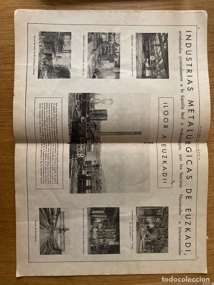 Militaria: Revista Guerra civil. Siderometalurgia nº2, Barcelona 1938. CNT AIT - Foto 3 - 180179372
