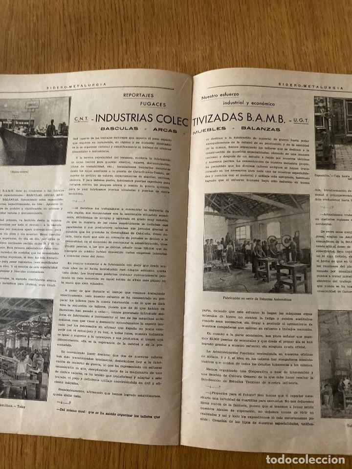 Militaria: Revista Guerra civil. Siderometalurgia nº2, Barcelona 1938. CNT AIT - Foto 4 - 180179372