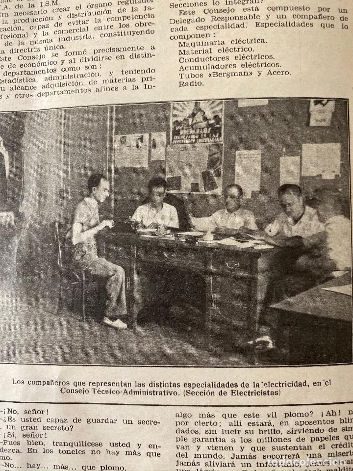Militaria: Revista Guerra civil. Siderometalurgia nº2, Barcelona 1938. CNT AIT - Foto 5 - 180179372
