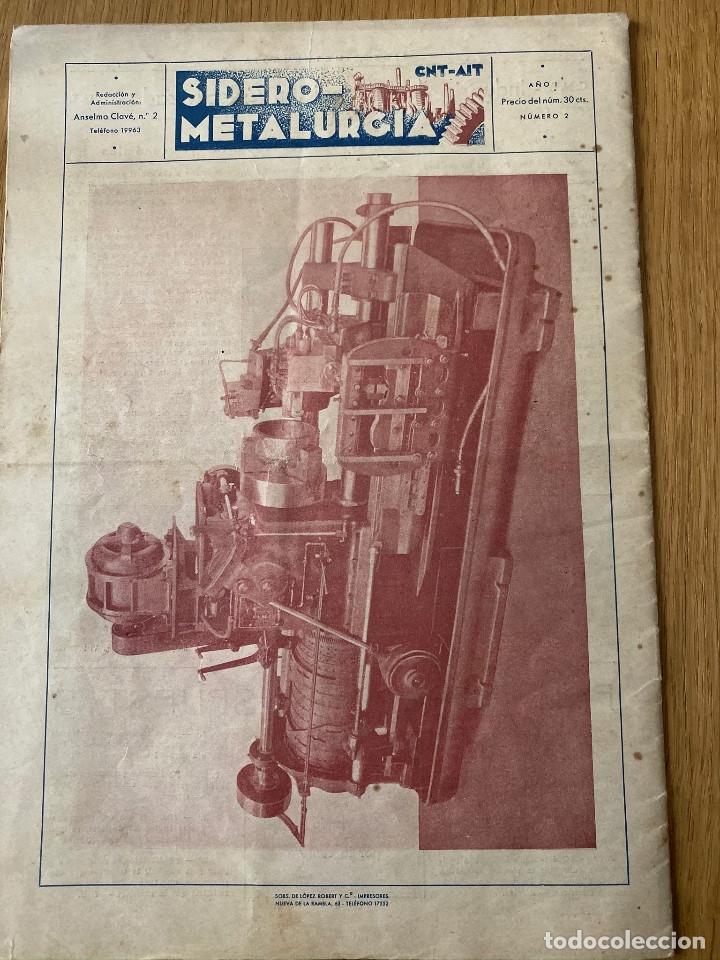 Militaria: Revista Guerra civil. Siderometalurgia nº2, Barcelona 1938. CNT AIT - Foto 6 - 180179372
