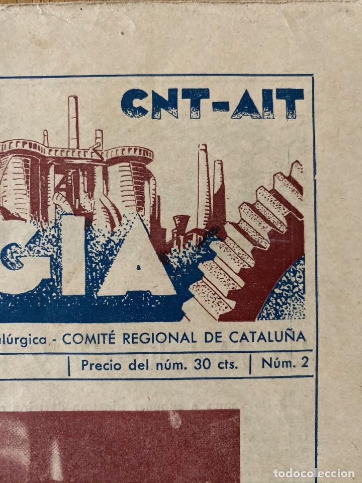 Militaria: Revista Guerra civil. Siderometalurgia nº2, Barcelona 1938. CNT AIT - Foto 7 - 180179372