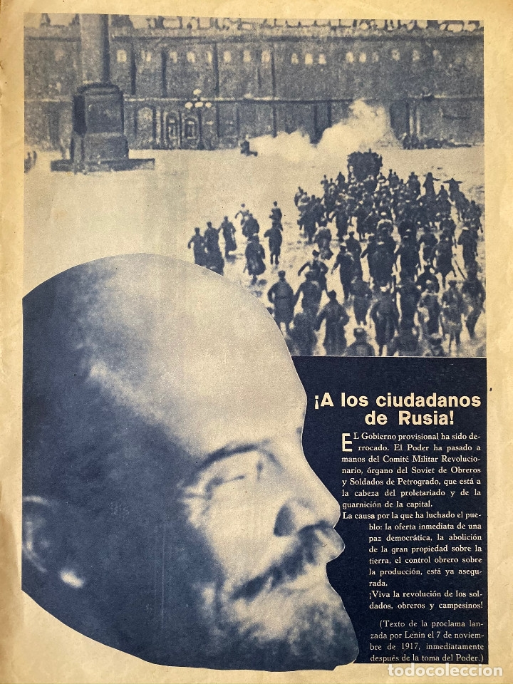 Militaria: Mundo obrero, número extraordinario de 1937 Dedicado al aniversario de la URSS, guerra civil - Foto 2 - 180180183