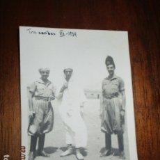Militaria: TRES CARIBES REGULARES FIN GUERRA CIVIL FOTO INEDITA REGULARES EX COMBATIENTES LEGION. Lote 180991107