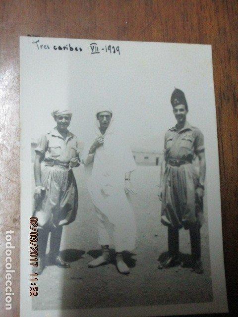Militaria: tres CARIBES REGULARES FIN GUERRA CIVIL FOTO INEDITA REGULARES ex COMBATIENTES LEGION - Foto 6 - 180991107