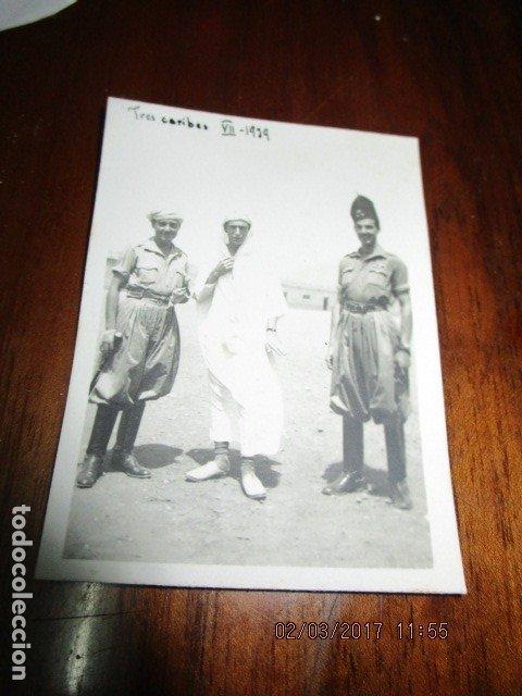 Militaria: tres CARIBES REGULARES FIN GUERRA CIVIL FOTO INEDITA REGULARES ex COMBATIENTES LEGION - Foto 4 - 180991107