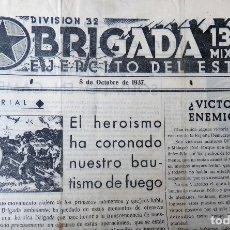 Militaria: REVISTA GUERRA CIVIL, DIVISION 34 BRIGADA MIXTA 137 DEL ESTE, AÑO 1 Nº 3, 1937 , VER FOTOS, ORIGINAL. Lote 182015468