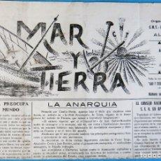 Militaria: REVISTA GUERRA CIVIL, MAR Y TIERRA CNT FAI JJ.LL. ALTEA , Nº 29 , 1938 , VER FOTOS, ORIGINAL. Lote 182015868