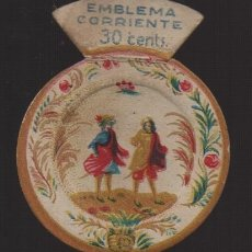 Militaria: EMBLEMA CORRIENTE , 30 CTS,. AUXILIO SOCIAL, VER FOTOS. Lote 182073503