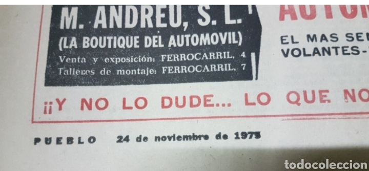 Militaria: Lote periódicos muerte de Franco - Foto 6 - 182299971