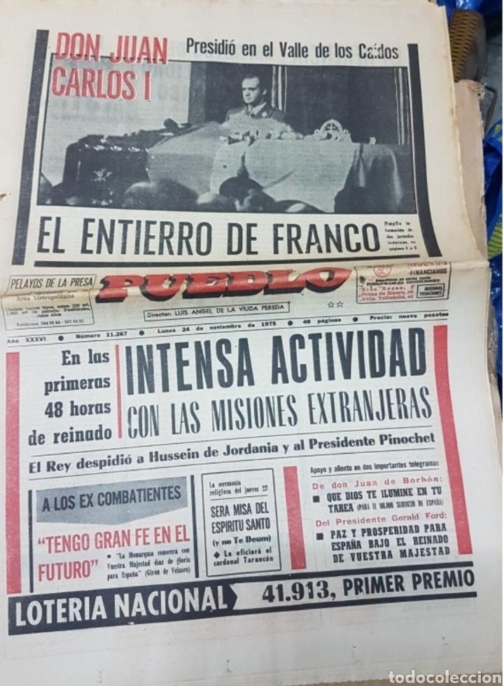 Militaria: Lote periódicos muerte de Franco - Foto 7 - 182299971