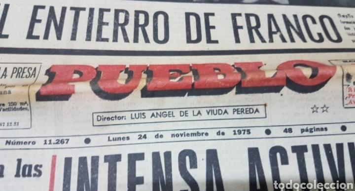 Militaria: Lote periódicos muerte de Franco - Foto 8 - 182299971