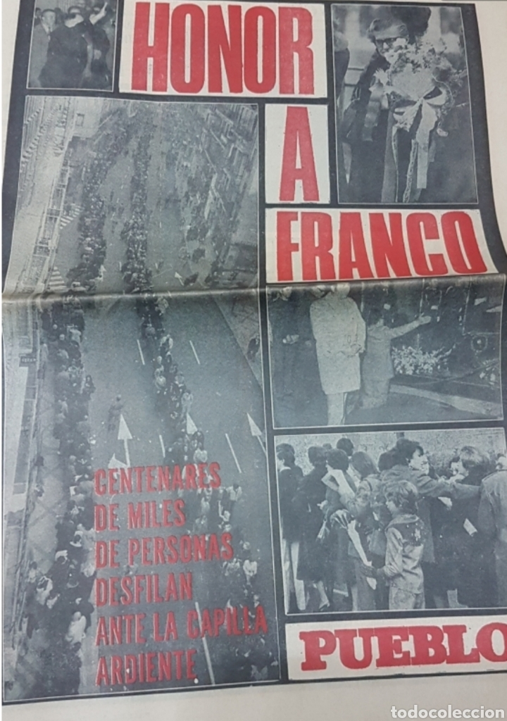 Militaria: Lote periódicos muerte de Franco - Foto 9 - 182299971